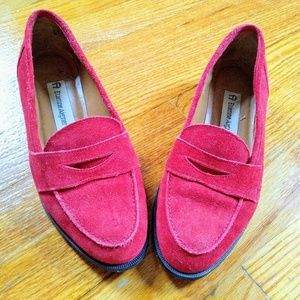ETIENNE AIGNER Scarlet Red Suede Shoes Size 6